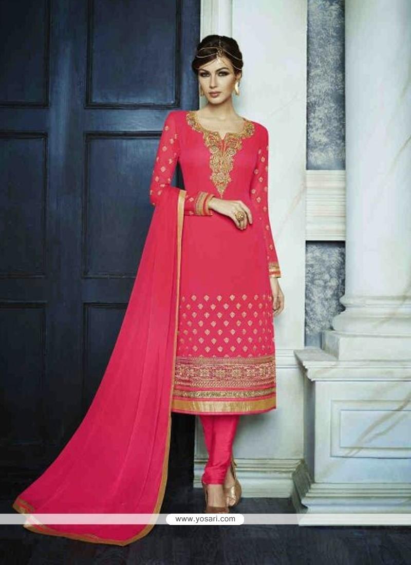 Baronial Hot Pink Designer Suit