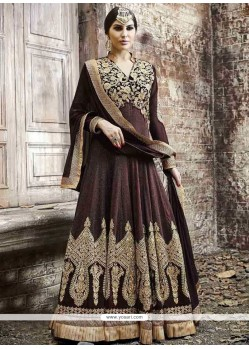 Festal Georgette Brown Anarkali Salwar Kameez
