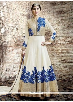 Latest Embroidered Work Georgette Anarkali Salwar Kameez