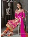 Haute Patch Border Work Silk Designer Suit