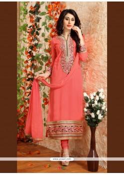 Picturesque Peach Designer Suit