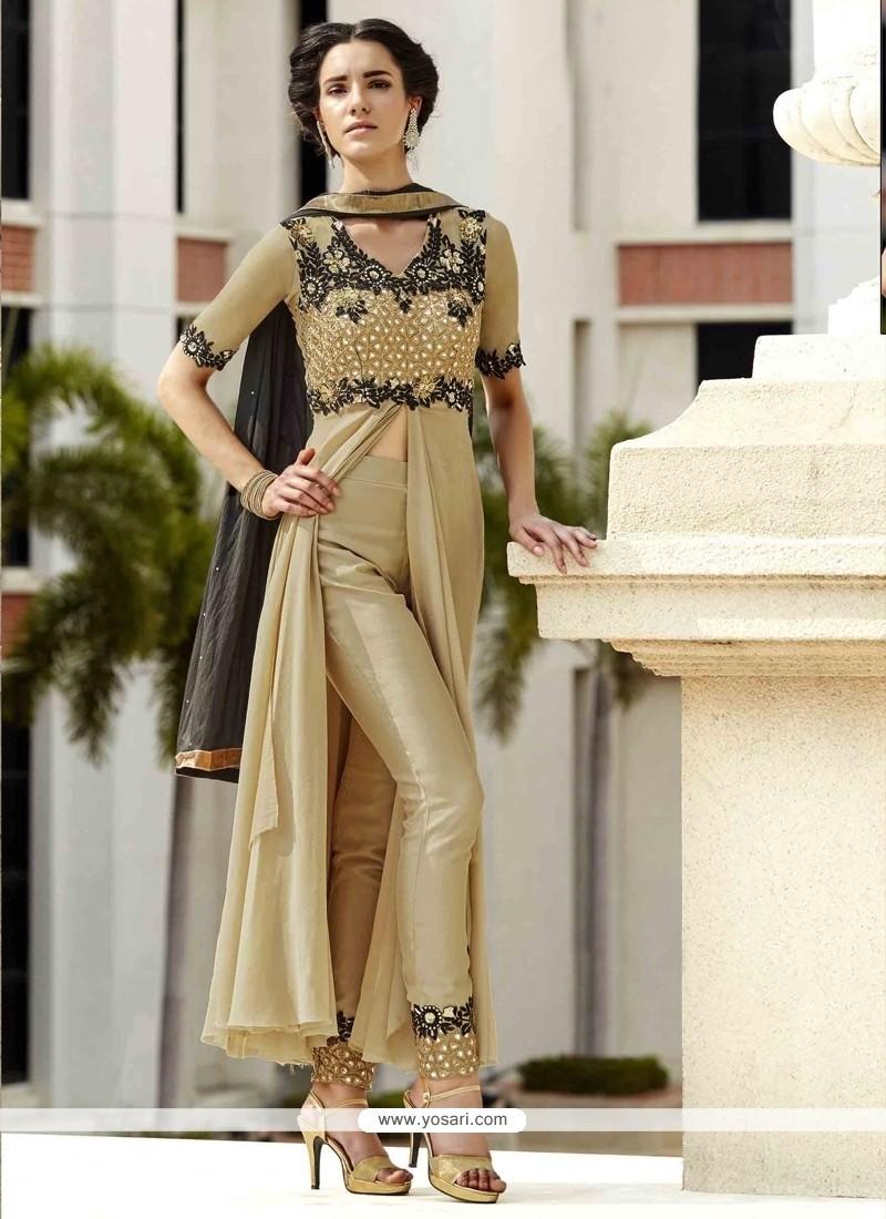 Aristocratic Beige Designer Suit