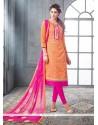 Imperial Lace Work Churidar Designer Suit