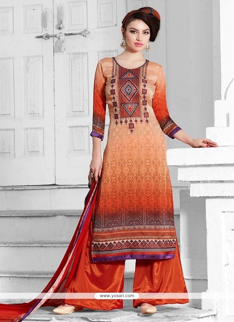 Festal Print Work Multi Colour Georgette Designer Suit