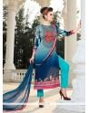 Sonorous Multi Colour Satin Designer Suit