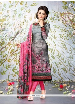 Adorable Multi Colour Lace Work Georgette Churidar Designer Suit