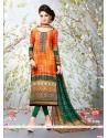 Alluring Digital Print Work Multi Colour Churidar Designer Suit