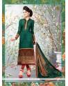 Fascinating Faux Crepe Multi Colour Churidar Designer Suit