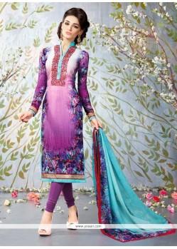 Prime Digital Print Work Churidar Designer Suit
