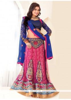 Charming Pink Net Lehenga Choli