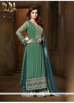 Diya Mirza Green Designer Suit