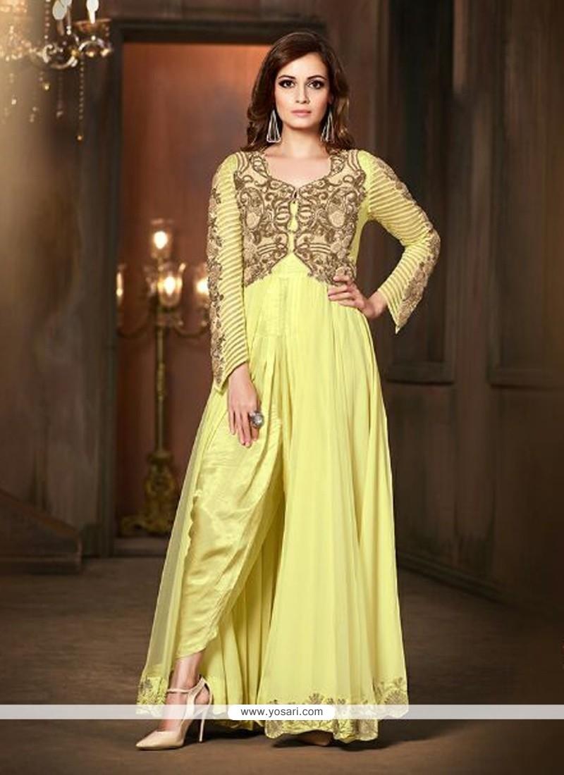 Diya Mirza Viscose Designer Suit