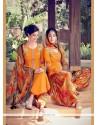 Voguish Multi Colour Digital Print Work Cotton Satin Designer Suit