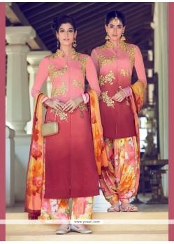 Winsome Digital Print Work Multi Colour Designer Suit