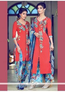 Magnificent Cotton Satin Designer Suit