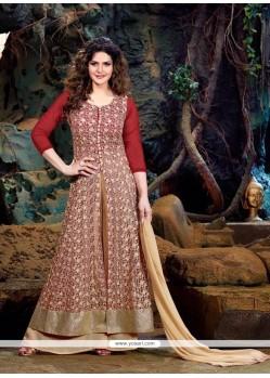 Zarine Khan Red Georgette Designer Suit