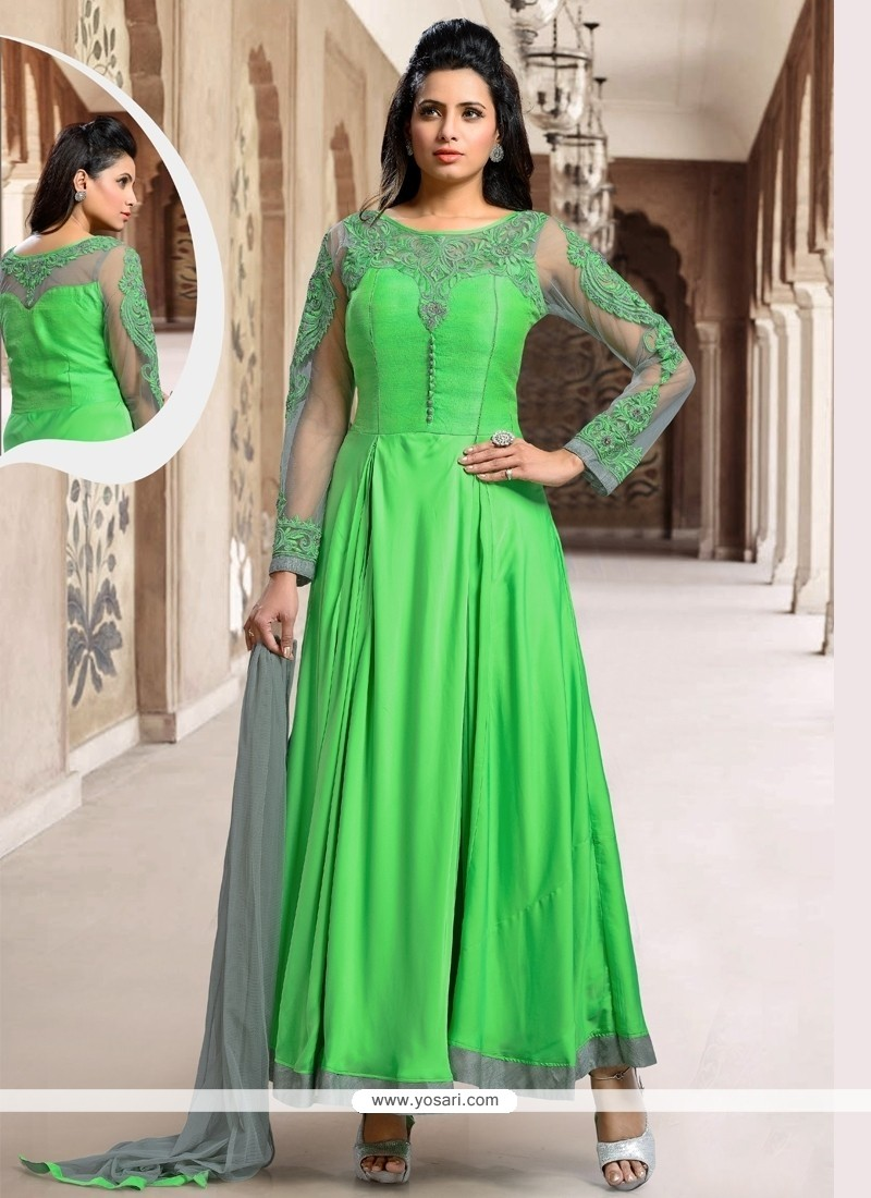 Glowing Green Designer Suit