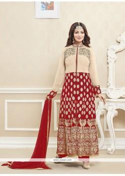 Ayesha Takia Red Designer Suit