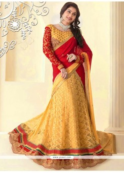 Epitome Beige Net Wedding Lehenga Choli