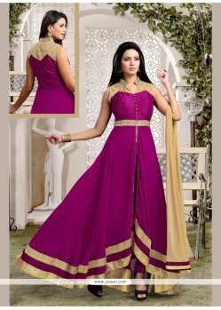 Fetching Kasab Work Georgette Anarkali Salwar Kameez