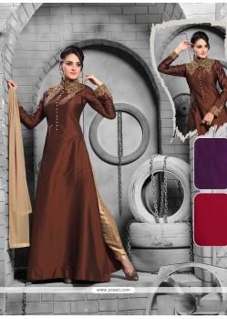 Latest Satin Resham Work Designer Suit