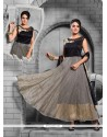 Irresistible Net Grey Anarkali Salwar Kameez