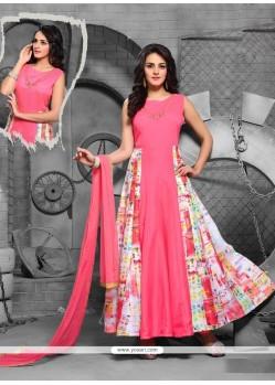 Exciting Pink Anarkali Salwar Kameez
