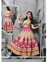 Sightly Raw Silk Resham Work Anarkali Salwar Kameez