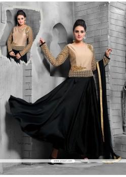 Flamboyant Net Resham Work Anarkali Salwar Kameez