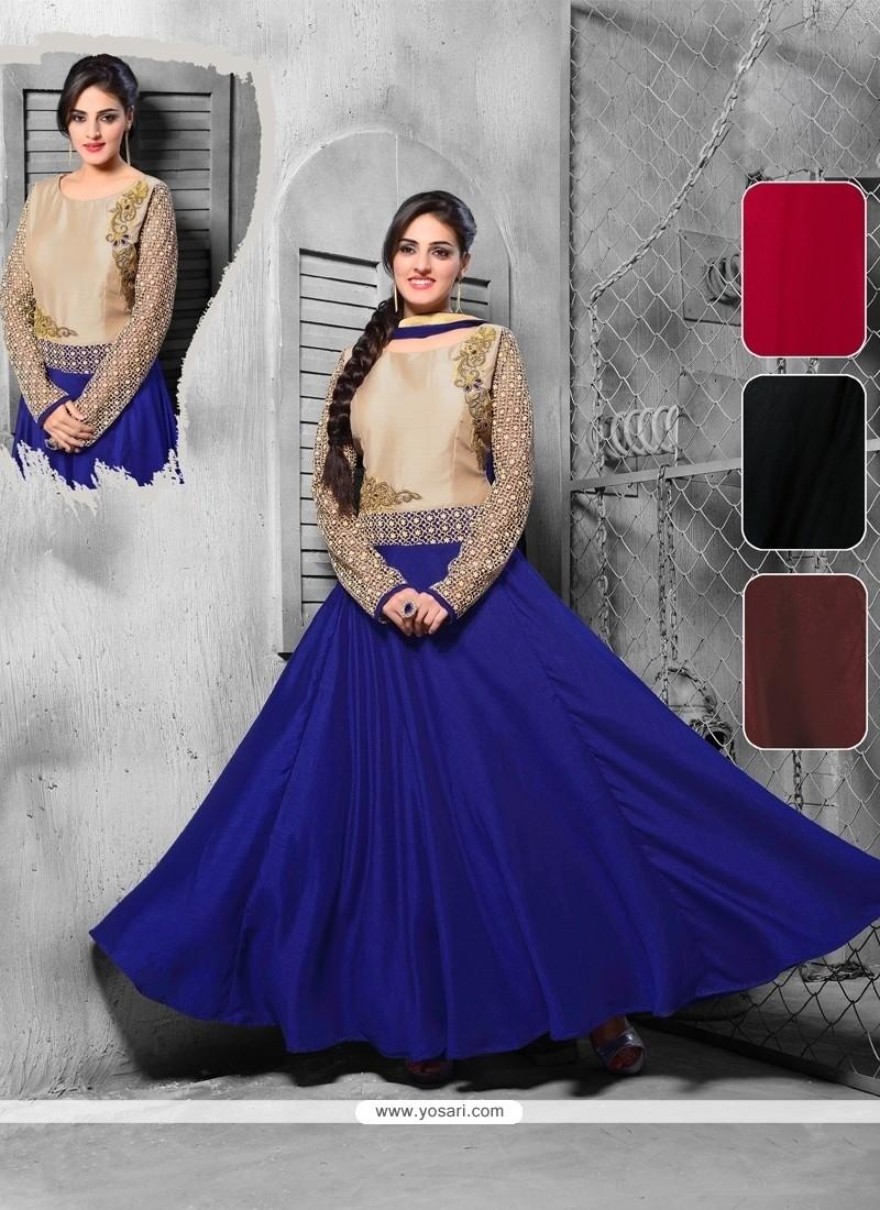 Impressive Blue Anarkali Salwar Kameez