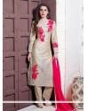 Voluptuous Embroidered Work Designer Suit