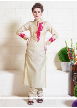Classy Tussar Silk Resham Work Designer Suit