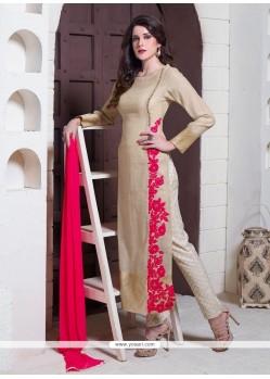 Staggering Jute Silk Designer Suit