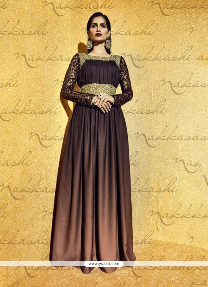Royal Net Resham Work Anarkali Salwar Kameez
