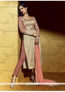 Exceeding Resham Work Bhagalpuri Silk Designer Suit