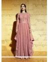 Exceeding Embroidered Work Pink Anarkali Salwar Kameez