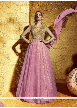 Striking Pink Anarkali Salwar Kameez