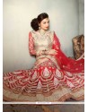 Blissful Embroidered Work Red A Line Lehenga Choli