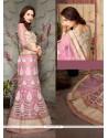 Girlish Pink Net A Line Lehenga Choli