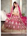 Subtle Net Hot Pink A Line Lehenga Choli