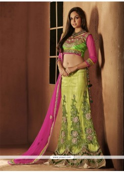 Green Embroidery Designer Lehenga Choli