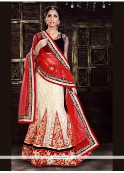 Preferable Jacquard Embroidered Work A Line Lehenga Choli