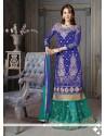 Incredible Net Blue A Line Lehenga Choli