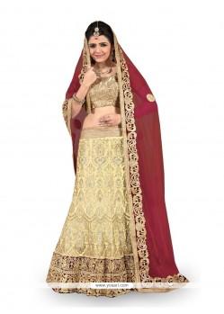 Excellent A Line Lehenga Choli For Bridal