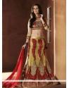 Splendid Beige Net Resham Work Lehenga Choli