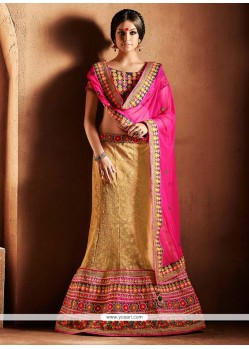 Glorious Beige Net Lehenga Choli