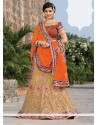 Magnetic Beige Net Bridal Lehenga Choli
