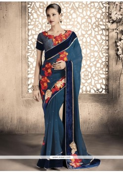Tempting Viscose Designer Saree