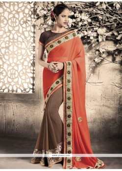 Opulent Patch Border Work Designer Saree