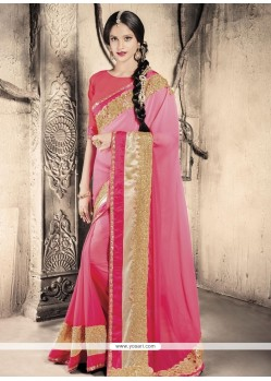 Ravishing Hot Pink Designer Saree
